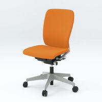イトーキ フルゴ オフィスチェア ハイバック ベースカラーホワイト 肘無し アンバーオレンジ KF-430GB-W9D3 1脚 (直送品)