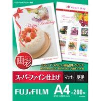 富士フイルム インクジェットペーパー 画彩 スーパーファイン仕上 げ A4 200枚 SFA4200 1冊 (直送品)