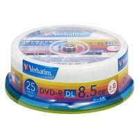 三菱化学メディア DVDーR DL 8.5GB PCデータ用 8倍速 対応 25枚スピンドルケース入り ワイド印刷可能 DHR85HP25V1 1 (直送品)