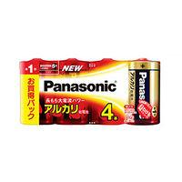 パナソニック アルカリ乾電池単一形4本シュリンクパック LR20XJ/4SW 1個 (直送品)