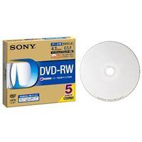 ソニー データ用DVDーRWディスク 白色プリンタブル 6 倍速対応 5枚パック 5ミリ薄型ケース 5DMW47HPS6 1箱 (直送品)