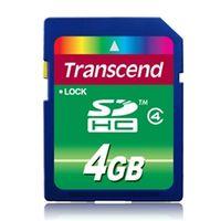 トランセンド 4GB SDHCカード CLASS4 TS4GSDHC4 1個 (直送品)