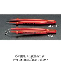 エスコ(esco) 150mm ピンセット(絶縁・ベンド) 1セット(2本) EA640K-2(直送品)