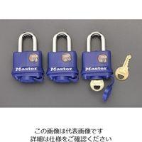 エスコ(esco) 40mm パドロック(3個組/同一キー) 1セット(6個:3個×2組) EA983SA-4(直送品)