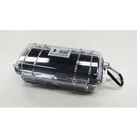 エスコ(esco) 162x 67x52mm 防水ケース(黒・クリア) 1セット(2個) EA657-3A(直送品)