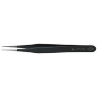 エスコ(esco) 0.65x110mm 精密用ピンセット(ステンレス製 ESD) 1セット(2本) EA595EE-1(直送品)