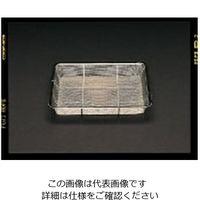 エスコ(esco) 325x260x 43mm 浅型角ざる(ステンレス製) 1セット(3枚) EA992C-7(直送品)