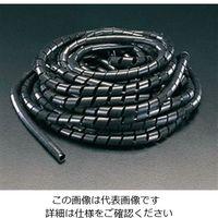 エスコ(esco) 6.0mmx10m スパイラルチューブ(黒) 1セット(10本) EA944BX-6(直送品)