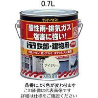 エスコ(esco) 0.7L 油性・多目的塗料/鉄部・建物用(白) 1セット(2100mL:700mL×3缶) EA942EC-11(直送品)