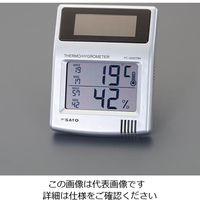 エスコ(esco) [ソーラーバッテリー]最高・最低温湿度計 1セット(2個) EA728C-1 (直送品)