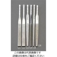エスコ(esco) 4.8x1.4x85mmダイヤモンド鑢(平・ショート/#140) 1セット(2本) EA826VM-121(直送品)