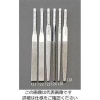 エスコ(esco) 4.8x1.6x85mmダイヤモンド鑢(平・ショート/#140) 1セット(2本) EA826VM-122(直送品)