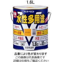エスコ(esco) 1.6L [水性]多用途塗料(鉄・木部用/グレー) 1セット(3200mL:1600mL×2缶) EA942EB-22A(直送品)