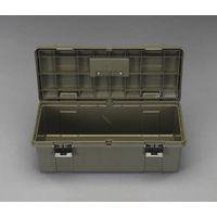 エスコ(esco) 697x330x250mm 工具箱(両開式/OD色) 1セット(2個) EA505K-690D(直送品)