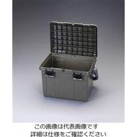エスコ(esco) 538x359x347mm 収納ケース(OD色) 1セット(2個) EA505D(直送品)