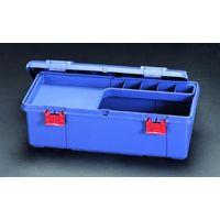 エスコ(esco) 697x330x250mm 工具箱(中皿付/青) 1セット(2個) EA505K-690(直送品)