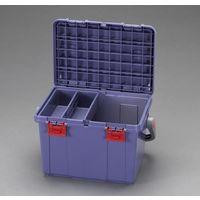エスコ(esco) 538x359x347mm 収納ケース(ブルー) 1セット(2個) EA505(直送品)