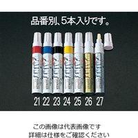 エスコ(esco) [赤/太字] ペイントマーカー(5本) 1セット(20本:5本×4箱) EA765MP-21(直送品)