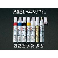 エスコ(esco) [白/太字] ペイントマーカー(5本) 1セット(20本:5本×4箱) EA765MP-25(直送品)