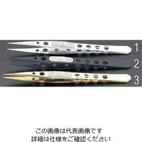 エスコ(esco) 0.51x125mm ピンセット(ステンレス製/チタンコート) 1セット(3本:1本×3個) EA595GG-3(直送品)