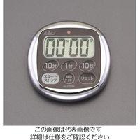 esco(エスコ) デジタルタイマー(ブラック) EA798C-2A 1セット(3個) (直送品)