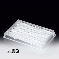 サンプラテック 96穴プレート 丸底Q 100枚入 25枚×4袋  03711 1組 (直送品)