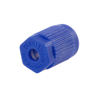SCHOTT(ショット) 青キャップ ねじ口びん2.3ポートキャップ用 GL-14 017270-5A 1箱(2個) 61-4412-22 (直送品)