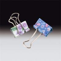 サンプラテック 花柄ダブルクリップ GPー471 10個×10袋  27129 1組 (直送品)