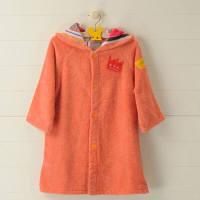 MULTI-STRIPES 今治タオル キッズバスローブ S (着丈約48×幅39cm) オレンジ