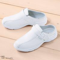 富士ゴムナース サボ・スリッポン 940-1 ホワイト 5L(28.0cm) 2WAYナースシューズ 1足(直送品)