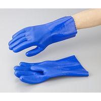 アズワン アズセーフ 作業手袋 PVC製 L レギュラー 1双 1-532-02(直送品)