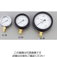 アズワン 汎用圧力計A形 φ60 G1/4B0.25 1個 1-7465-02 (直送品)