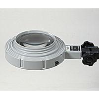 京葉光器 LED照明拡大鏡(スタンドタイプ100型) LED-040S 1台 1-5607-03(直送品)