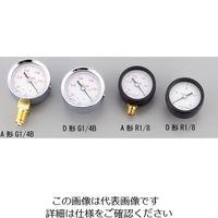 アズワン 小型圧力計D形φ40 R1/80.1 1個 1-7515-01 (直送品)