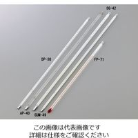 日本計量器工業 石油類試験用ガラス製温度計(JIS適合) グリース滴点用 DP-38 1本 1-6377-13(直送品)
