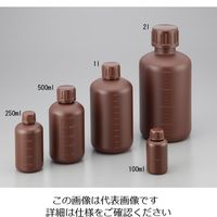 NIKKO(ニッコー) 細口瓶 100mL HDPE製・遮光 1本 2-5076-01 (直送品)