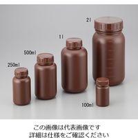 ニッコー・ハンセン 広口瓶 100mL HDPE製・遮光 1本 2-5077-01 (直送品)