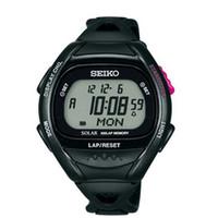 SEIKO(セイコーウオッチ) 1/100秒 防水 スーパーランナーズ 腕時計 ソーラー 黒 SBEF001 1個 (直送品)