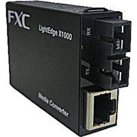 FXC RJー45 to 100BASEーFX(SC)MMF メディアコンバータ LEX1842-02 1個(直送品)