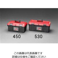 エスコ(esco) 530x253x220mm 工具箱(中皿付) 1セット(2個) EA505KB-530(直送品)