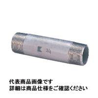 キッツ ステンレス鋼ねじ込み継手 両長ニップル SUS304TP 1/2 PN50L-15A 1個 (直送品)