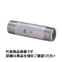 キッツ ステンレス鋼ねじ込み継手 両長ニップル SUS304TP 1/2 PN75L-15A 1個 (直送品)