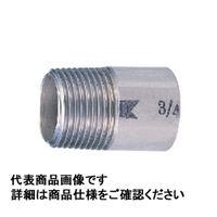 キッツ ステンレス鋼ねじ込み継手 片ニップル SUS304TP 1 PK-25A 1個 (直送品)