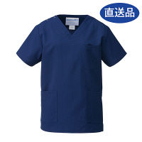 KAZEN スクラブ 133-98 ネイビー 3L 白衣  (直送品)