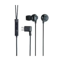 エレコム スマートフォン用ヘッドホン ステレオ ブラック EHP-MBIN100BK (直送品)