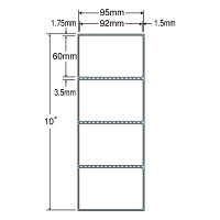 東洋印刷 PDラベル シートサイズ95×254mm、ラベルサイズ92×60mm TM3B 1箱(8000枚入) (直送品)