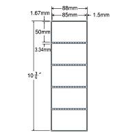 東洋印刷 PDラベル シートサイズ88×267mm、ラベルサイズ85×50mm、(再剥離タイプ) TMR3A 1箱(10000枚入) (直送品)