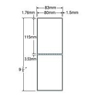 東洋印刷 PDラベル シートサイズ83×237mm、ラベルサイズ80×115mm(再剥離タイプ) TMR3C 1箱(4000枚入) (直送品)