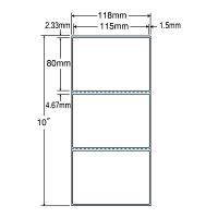 東洋印刷 PDラベル シートサイズ118×254mm、ラベルサイズ115×80mm(再剥離タイプ) TMR4C 1箱(6000枚入) (直送品)