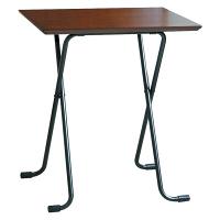 ルネセイコウ テーブル角 ダークブラウン/ブラック 幅600×奥行450×高さ680 1台 (直送品)